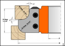 Freza cu alezaj pentru frezare profil concav-convex